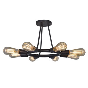 Dakota Charcoal Bronze Eight-Light Ceiling Mount