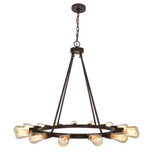 Dakota Charcoal Bronze 15-Light Chandelier