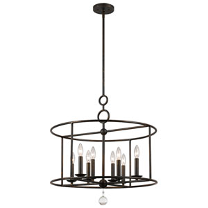 Cameron English Bronze Eight-Light Pendant