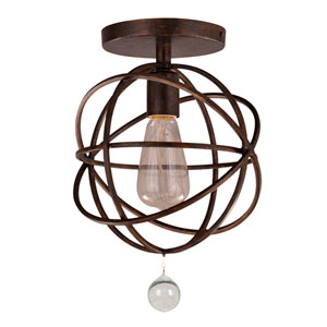 Solaris English Bronze One-Light Semi-Flush Mount