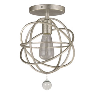Solaris Olde Silver One-Light Semi-Flush Mount