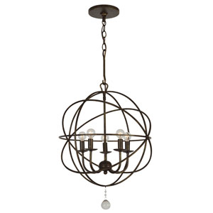 Solaris English Bronze Five-Light Mini Chandelier