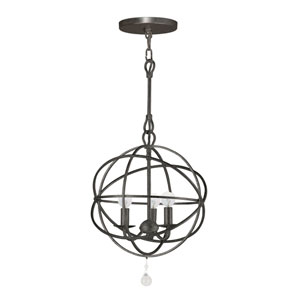 Solaris English Bronze Three-Light Chandelier