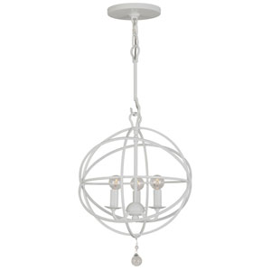 Solaris Wet White Wrought Iron Three-Light Pendant