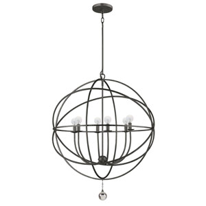 Solaris English Bronze Six-Light Pendant
