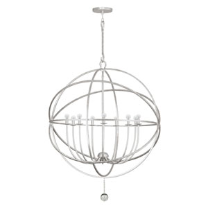 Solaris Olde Silver Nine Light Sphere Pendant