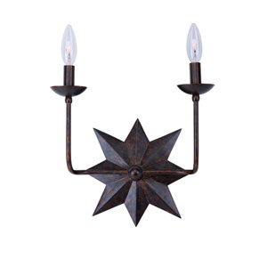 Astro English Bronze Two-Light Wall Sconce