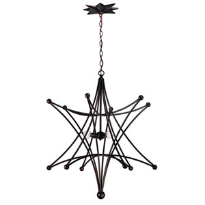 Astro English Bronze Four-Light Pendant