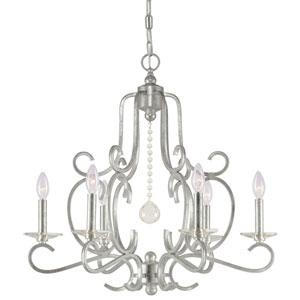 Orleans Olde Silver Six-Light Chandelier