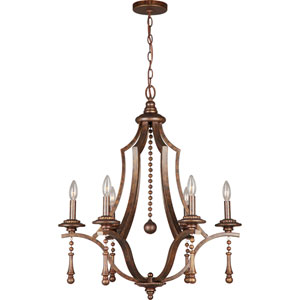 Parson English Bronze Six-Light Chandeliers