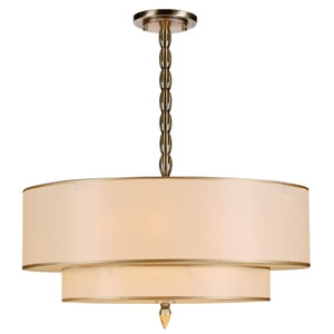 Luxo Antique Brass Five-Light Pendant