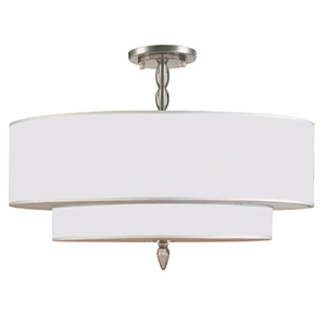 Luxo Satin Nickel Five Light Semi-Flush