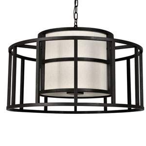 Hulton Matte Black Five Light Pendant