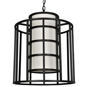 Hulton Matte Black Six Light Pendant