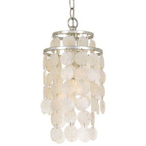 Brielle One-Light Antique Silver Mini Chandelier