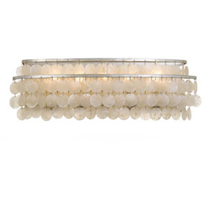 Brielle Five-Light Antique Silver Bath Light