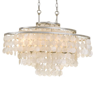 Brielle Six-Light Antique Silver Chandelier