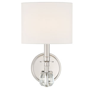 Chimes One-Light Polished Nickel Wall Sconce