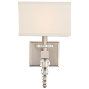 Clover One-Light Brushed Nickel Wall Sconce