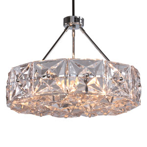 Collins Six-Light Polished Chrome Chandelier