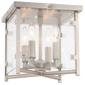 Danbury Four-Light Brushed Nickel Ceiling Mount
