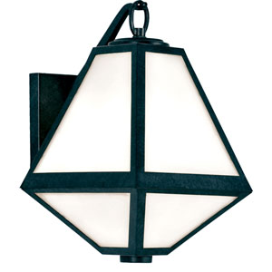 Glacier One-Light Black Charcoal Outdoor Wall Mount