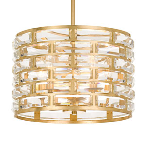 Meridian Five-Light Antique Gold Chandelier