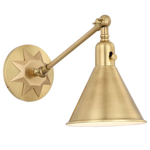 Morgan One-Light Aged Brass Wall Sconce