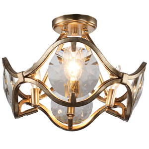 Quincy Four-Light Distressed Twilight Ceiling Mount