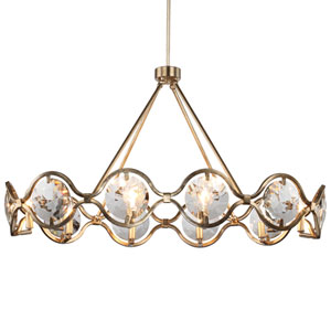 Quincy Ten-Light Distressed Twilight Chandelier
