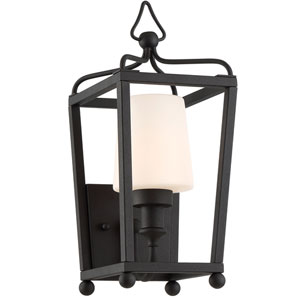 Sylvan One-Light Black Forged Outdoor Wall Mount