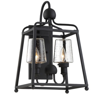 Sylvan Two-Light Black Forged Outdoor Wall Mount