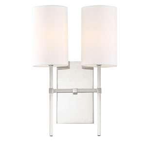 Veronica Two-Light Polished Nickel Wall Sconce