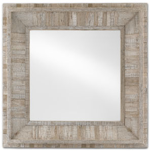 Kanor Whitewash Square Wall Mirror