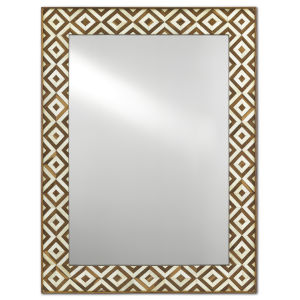 Persian Tan and White Large Wall Mirror