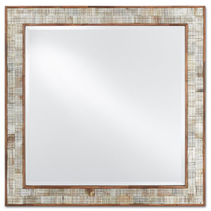 Miami Beach Glossy White and Pink Wall Mirror