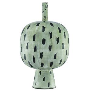 Declan Antique Cream and Black 20-Inch Decorative Vase