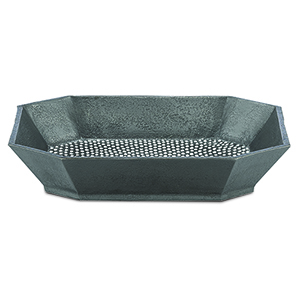 Graphite and White 10-Inch Tray