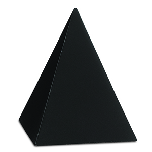 Black Concrete Pyramid