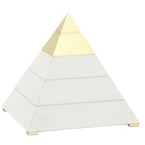 Mastaba White and Polished Brass Large Pyramid