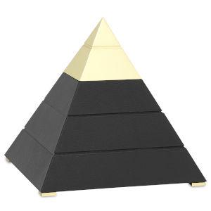 Mastaba Black and Polished Brass Large Pyramid