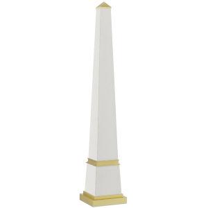 Pharaoh White and Brushed Brass Large Obelisk