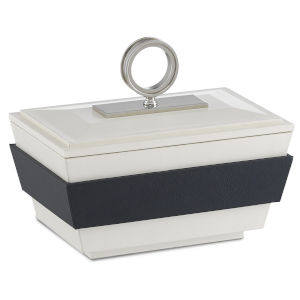Brash White and Navy Small Box