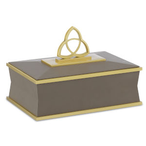 Trinity Taupe and Brushed Brass Large Box