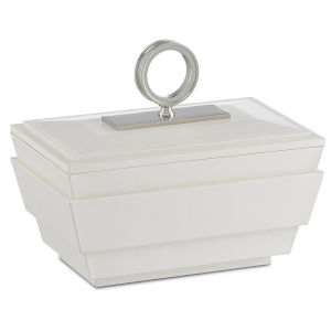 Brash White and Nickel Small Box