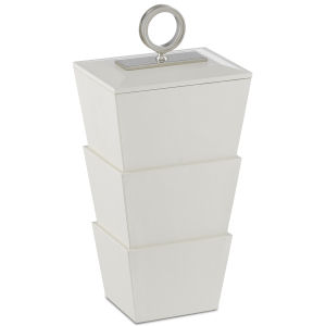 Brash White and Nickel Medium Box