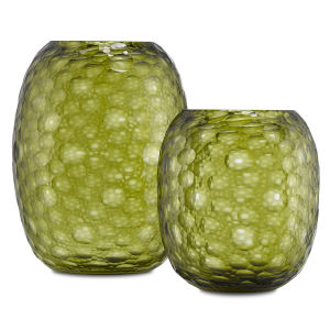 Wintergreen Olive Vase, Set of 2
