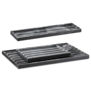 Everett Black Tray, Set of 3