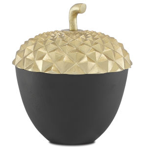 Oaknut Shiny Gold and Matte Black Large Jar