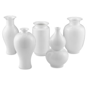 Imperial White Large Vase, Set of 5
